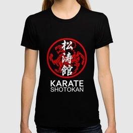 Shotokan Karate Symbol and Kanji white text T-shirt