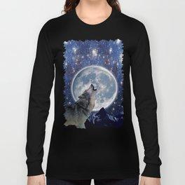 A One Wolf Moon Long Sleeve T-shirt
