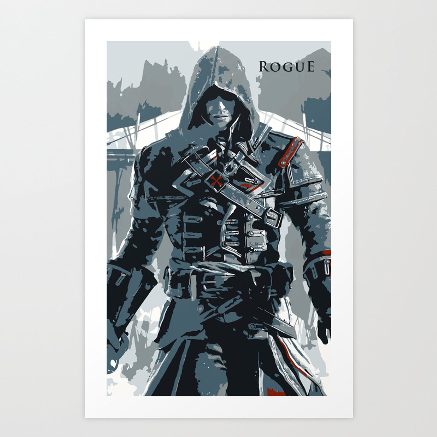Assassin S Creed Rogue Shay Minimalistic Art Print By Millslayne