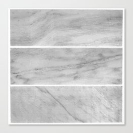 Granite Gray Slabs Canvas Print