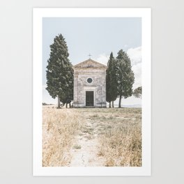 Chapel of the Madonna di Vitaleta Art Print
