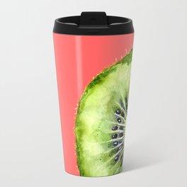 Kiwi on Coral Travel Mug