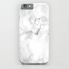Marble White Grey Pattern iPhone Case