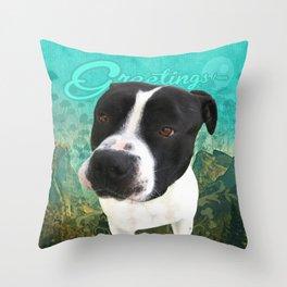 BOB (shelter pup) Throw Pillow