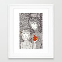 howl Framed Art Prints featuring Howl by nu boniglio