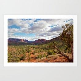 Sedona Landscape by Reay of Light Art Print