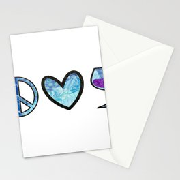 Sweet Peace Love & Wine Stationery Cards