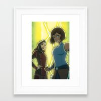 korrasami Framed Art Prints featuring Korrasami by Kelly Kao