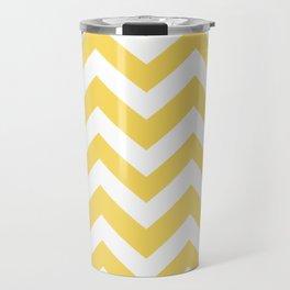 Stil de grain yellow - yellow color - Zigzag Chevron Pattern Travel Mug