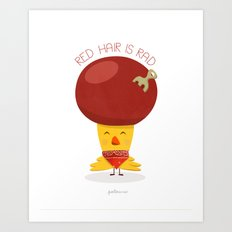 Red Hair is Rad Art Print