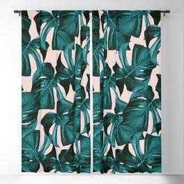 Tropical Monstera Leaves Pattern #1 #foliage #decor #art #society6 Blackout Curtain