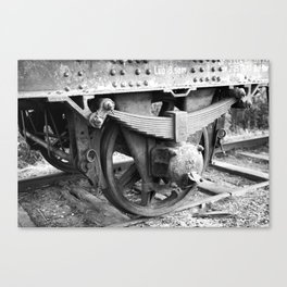 Old train wheel Canvas Print