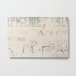 the writing on the wall ... Metal Print