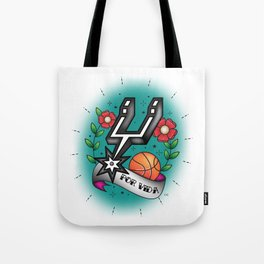 Old-School Spurs Love Tote Bag