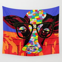 Spectacled Cow Wall Tapestry