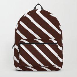 Cocoa Diagonal Stripes Backpack