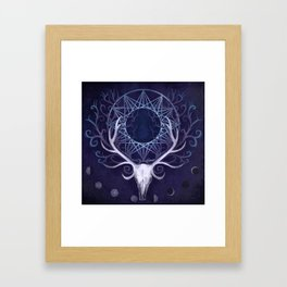Season Of The Moon's Winter Fire Framed Art Print