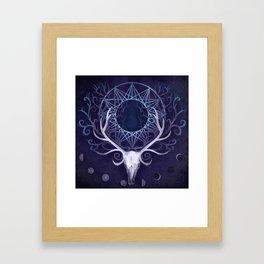 Season Of The Moon's Winter Fire Framed Art Print