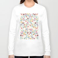 yetiland Long Sleeve T-shirts featuring Ditsy Flowers by Poppy & Red