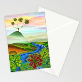 Foggy flower valley Stationery Cards