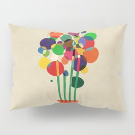 Happy flowers in the vase Pillow Sham
