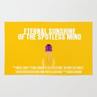 eternal sunshine Area & Throw Rugs featuring Eternal Sunshine Of The Spotless Mind Movie Poster by FunnyFaceArt