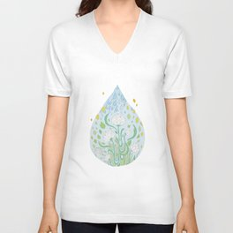 Waterflowers Unisex V-Neck
