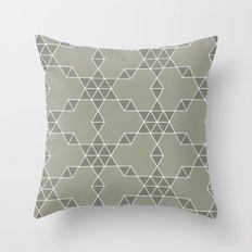 Warm gray hexagon pattern Throw Pillow