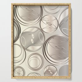 Circled Rings - White Gold Serving Tray