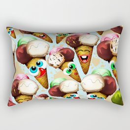 Ice Cream Cones Cartoon Pattern Rectangular Pillow