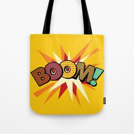 Comic Book Pop Art Spots BOOM! Tote Bag