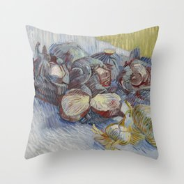 Vincent van Gogh - Red Cabbages and Onions Throw Pillow