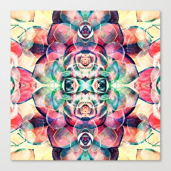 Succulents Abstract Canvas Print