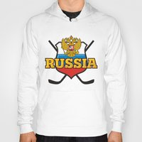 hockey Hoodies featuring HOCKEY by frail