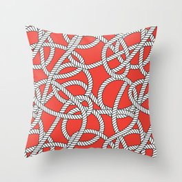 Red Rope Pattern Throw Pillow