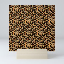 Golden Leopard Print Mini Art Print