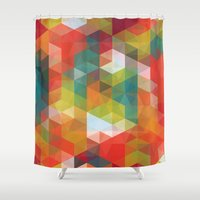 transparent Shower Curtains featuring Transparent Cubism by All Is One