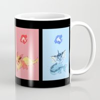 eevee Mugs featuring Evolutions, Part I by David Flamm