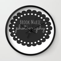 logo Wall Clocks featuring Logo by brookmariephotography