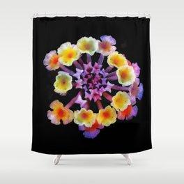 Camara flower - natural mandala Shower Curtain