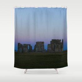 Stonehenge In Pink Shower Curtain