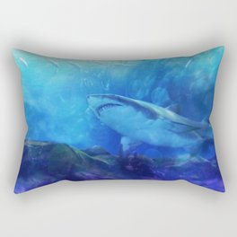 Make Way for the Great White Shark King  Rectangular Pillow