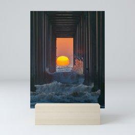 Sunset Through Scripps Pier Mini Art Print