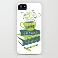 Tea & Books (C.S Lewis) - green/blue Slim Case iPhone (5, 5s)