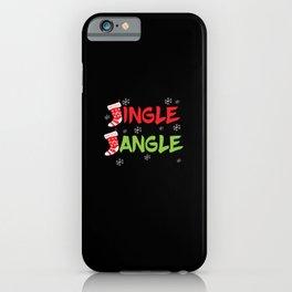 Christmas Jingle Jungle Sticker - Xmas Gift iPhone Case
