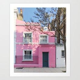 Pink Chelsea Cottage Art Print