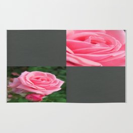 Pink Roses in Anzures 2 Blank Q6F0 Rug
