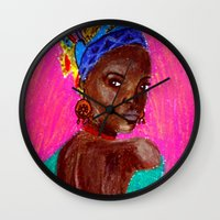 african Wall Clocks featuring African by Ksuhappy