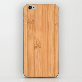 Cool elegant light brown bamboo wood print iPhone Skin