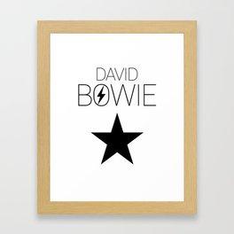 Modern Bowie Framed Art Print